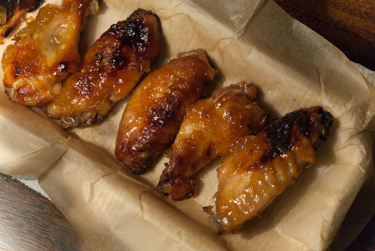 Grilled Chicken Wings with Spicy Pineapple Glaze