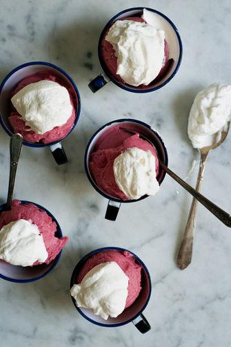 Rhubarb Gin Sorbet
