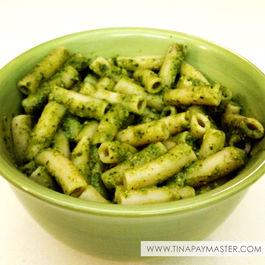 Kale pesto with brown rice pasta