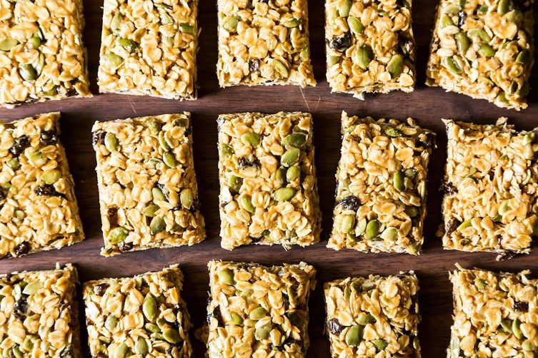 Five minute no bake vegan granola bars for Food52 bar nuts