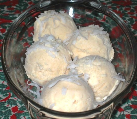 Pear Sherbet Snowballs with a hint of Coconut