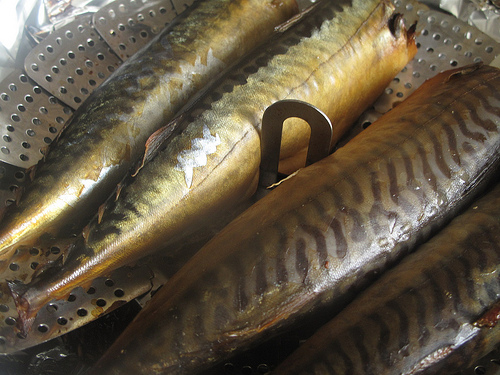 Tea-smoked mackerel