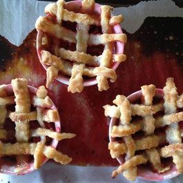Auntie Dot's Strawberry-Rhubarb Tarts