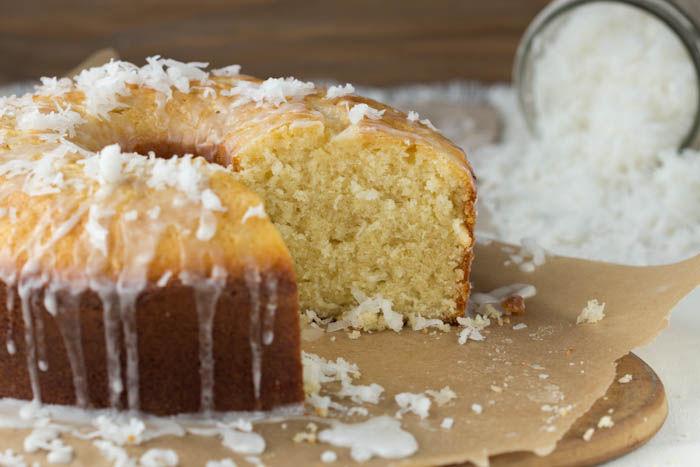 Coconut Pound Cake with Coconut Glaze