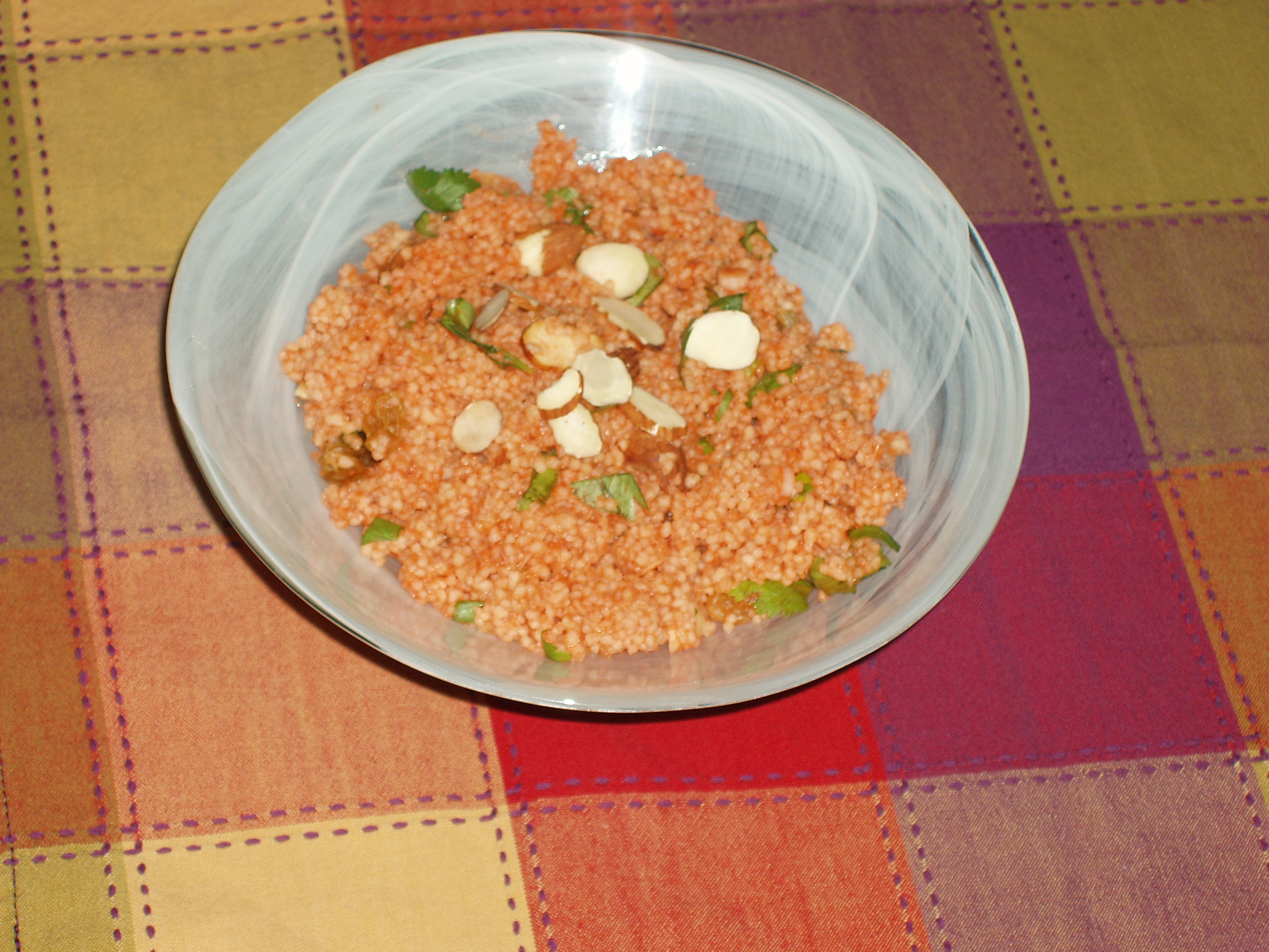 sweet and savory carrot couscous