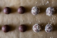 Dark Chocolate & Coconut Bites.