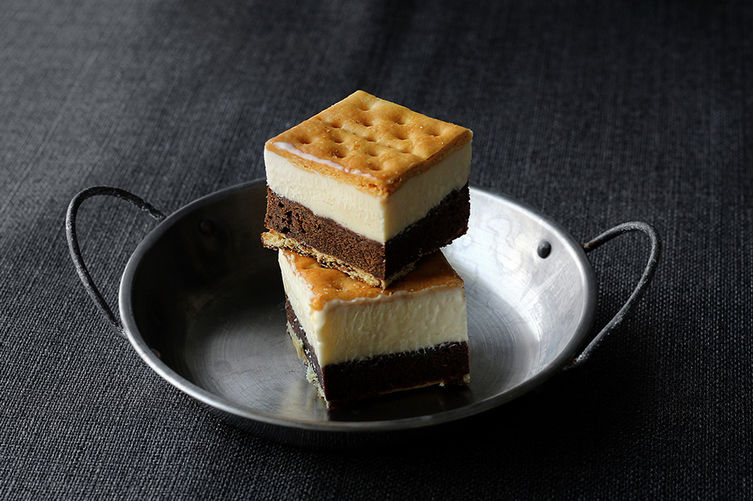 Saltine Cracker Brownie Ice Cream Sandwich