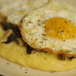 Polenta with Wilted Escarole and Olive Oil Fried Eggs