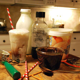 Egg cream with icecream