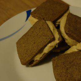 Espresso Shortbread and Burnt Orange Spice Ice Cream Sandwiches