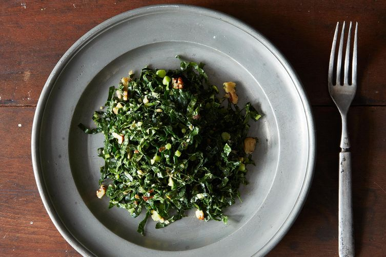 Lacinato Kale and Mint Salad with Spicy Peanut Dressing on Food52
