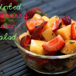 Minted-strawberry-melon-salad
