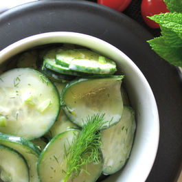 Dilled Cucumbers with Yogurt Dressing