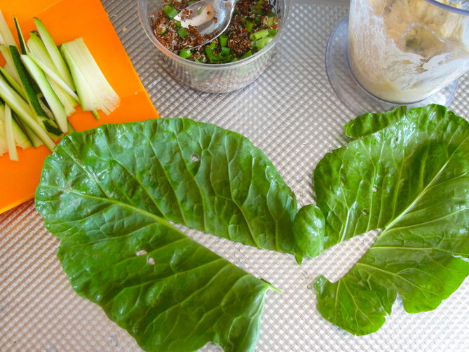 Collard Sandwich Wrap