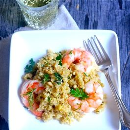 Herbed Quinoa Salad with Roasted Shrimp