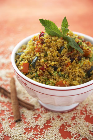 Quinoa with Butternut Squash, Cinnamon and Mint