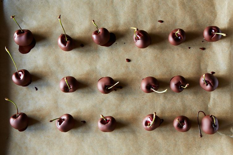 Chocolate-Dipped Cherries on Food52