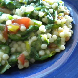 Basil Scented Spinach and Couscous