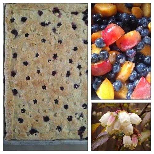 Lavender & Verbena Scented Blueberry-Apricot Slab Pie