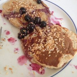 coconut blueberry cloud pancakes