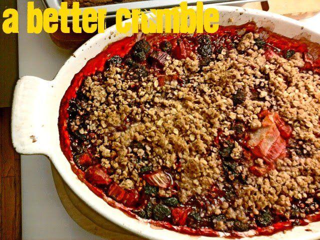 A better crumble: Rhubarb Raspberry Crisp