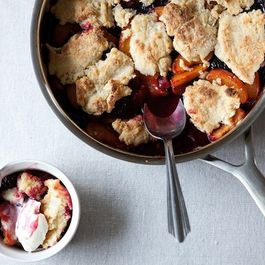 Blackberry Apricot Cobbler