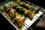 Burmese-Style Wings with Lime, Cilantro, and Shallot Salsa