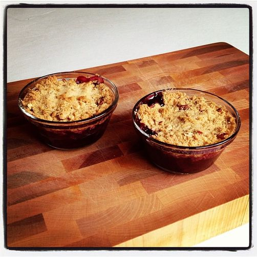 Cherry-Chocolate-Pecan Crumble
