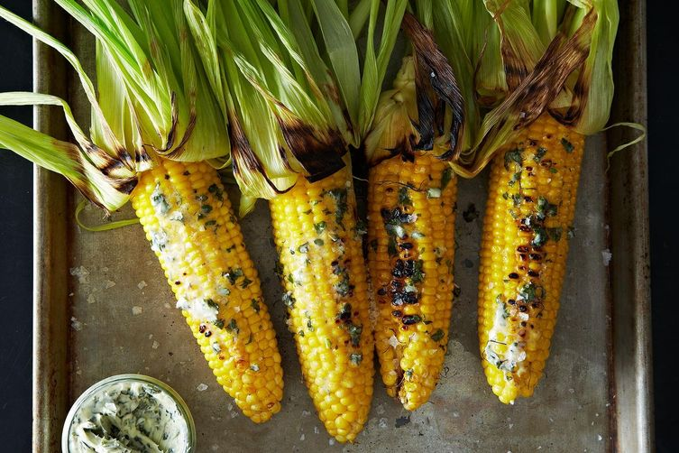 Grilled Corn with Basil Butter on Food52
