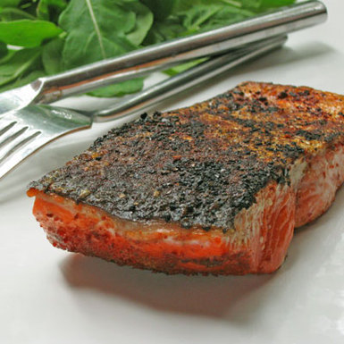 Seared Salmon with Cinnamon and Chili Powder