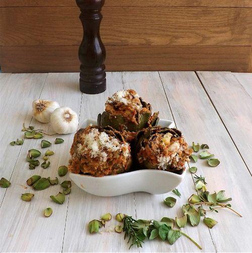Caponata Stuffed Artichokes