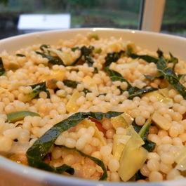 Olive, Artichoke, Kale and Pistachio Couscous