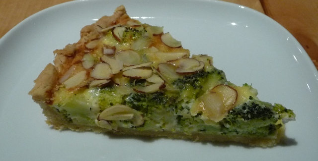 Broccoli and Goat Cheese Quiche
