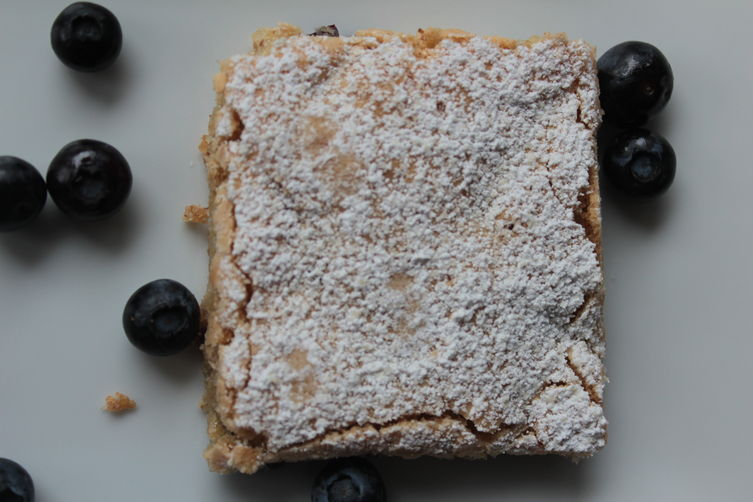 Almond Blueberry Sheet Cake