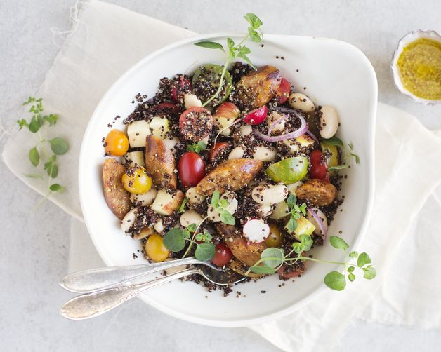 Quinoa and Vegetable Chorizo Salad from Food52