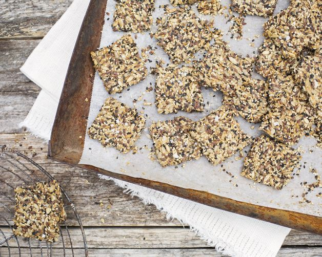 Orange-Kissed Seed Crackers from Food52