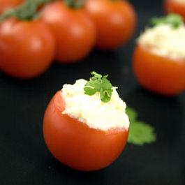 Cheese Stuffed Cherry Tomatoes