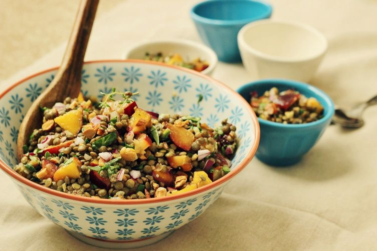 Lentil & Stone Fruit Salad
