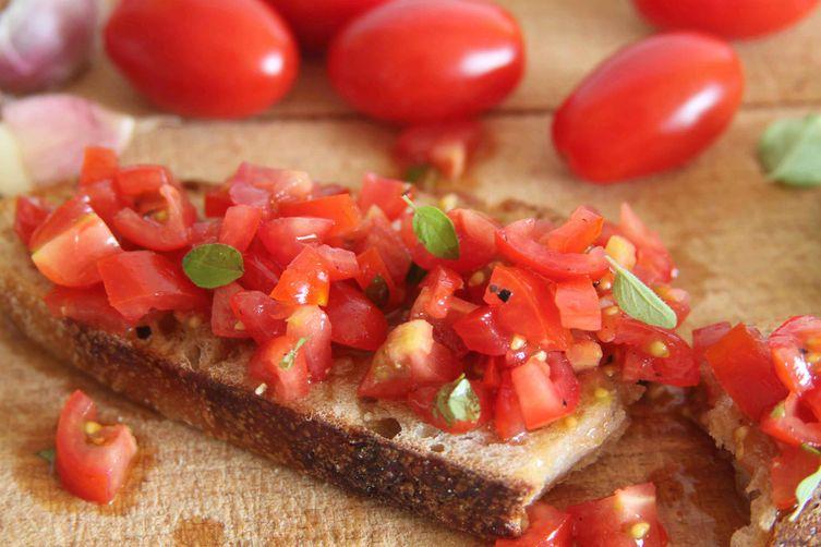 Tomato Bruschetta (summer on toast)