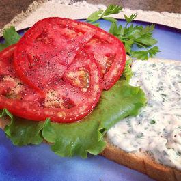 Tomato Sandwich with Zesty Herb Mayo