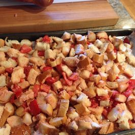 Roasted Tomato Panzanella Salad