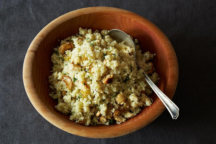 Cauliflower couscous from Food52