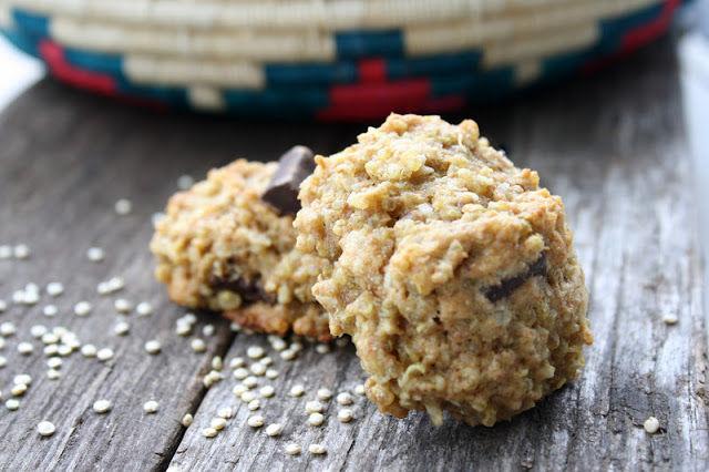 Quinoa Cookies with Coconut & Chocolate Chunks