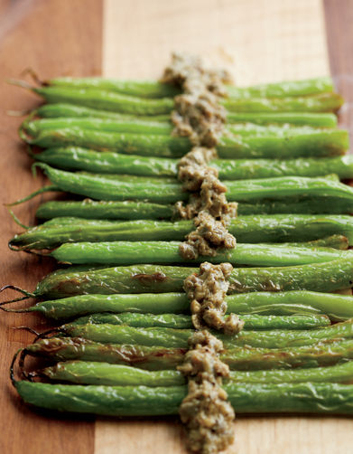 Seared French Beans with Caper Bagna Cauda from Food52