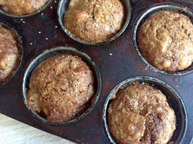 Spiced Applesauce Quinoa Muffins