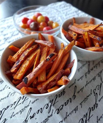 Spiced & Caramelized Sweet Potato Fries