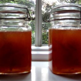 Golden plum and ginger jam