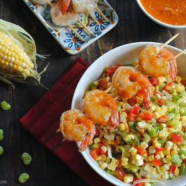 Succotash_with_spicy_chipotle-mango_shrimp