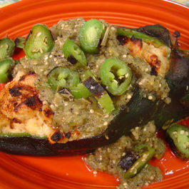 Chipotle Sweet Potato Stuffed Chiles Rellenos