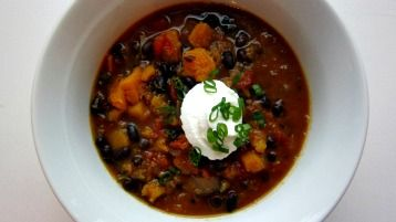 Smokey black bean and butternut squash stew